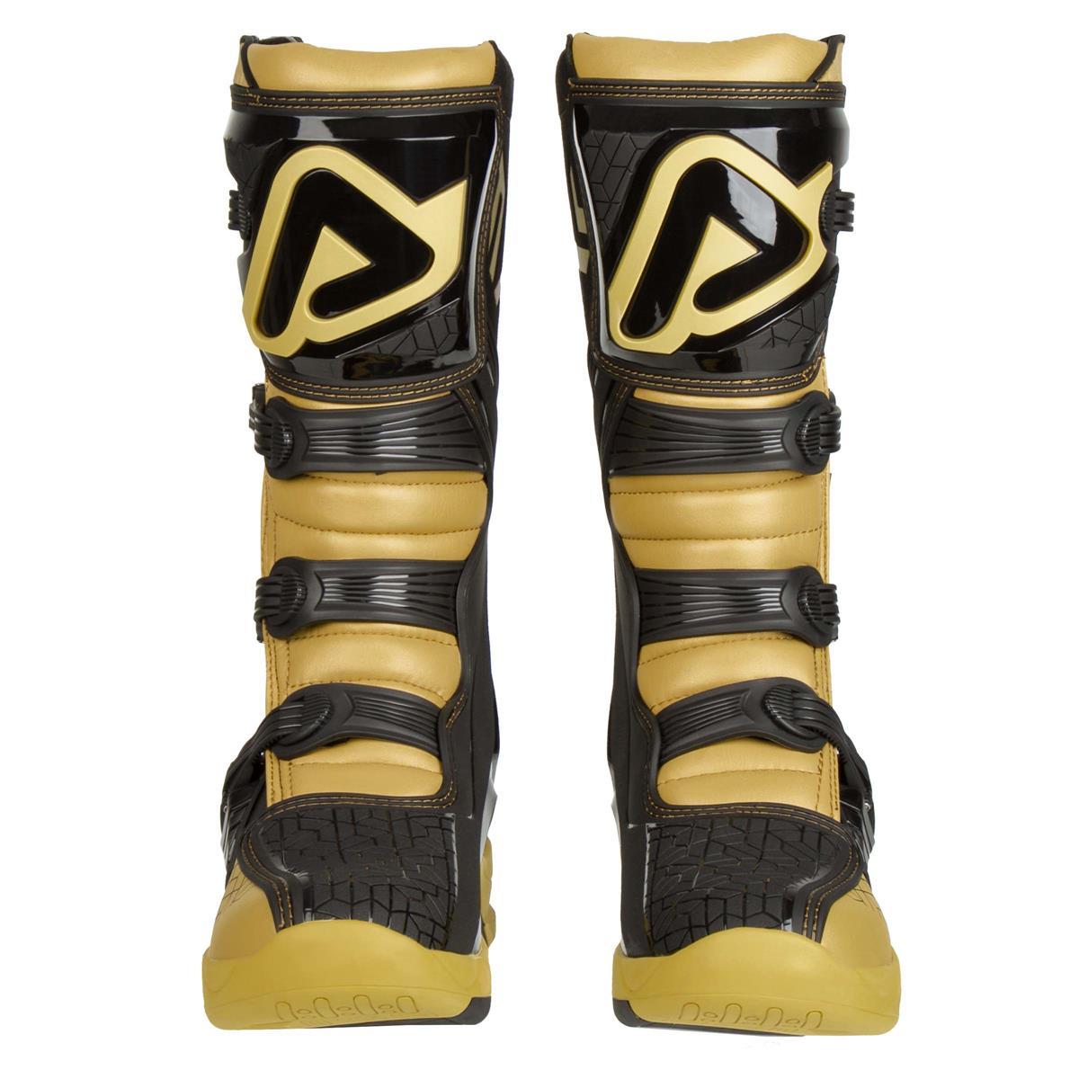 Acerbis Motocross-Stiefel X-Team Gold//Weiß