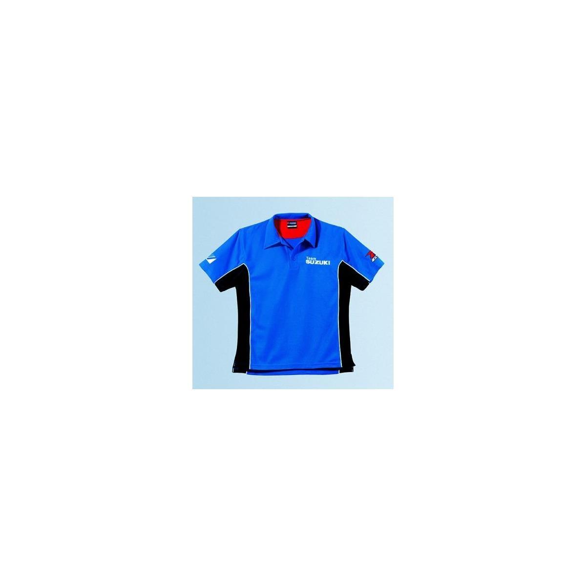 suzuki polo shirt sport blue maciag offroad. Black Bedroom Furniture Sets. Home Design Ideas