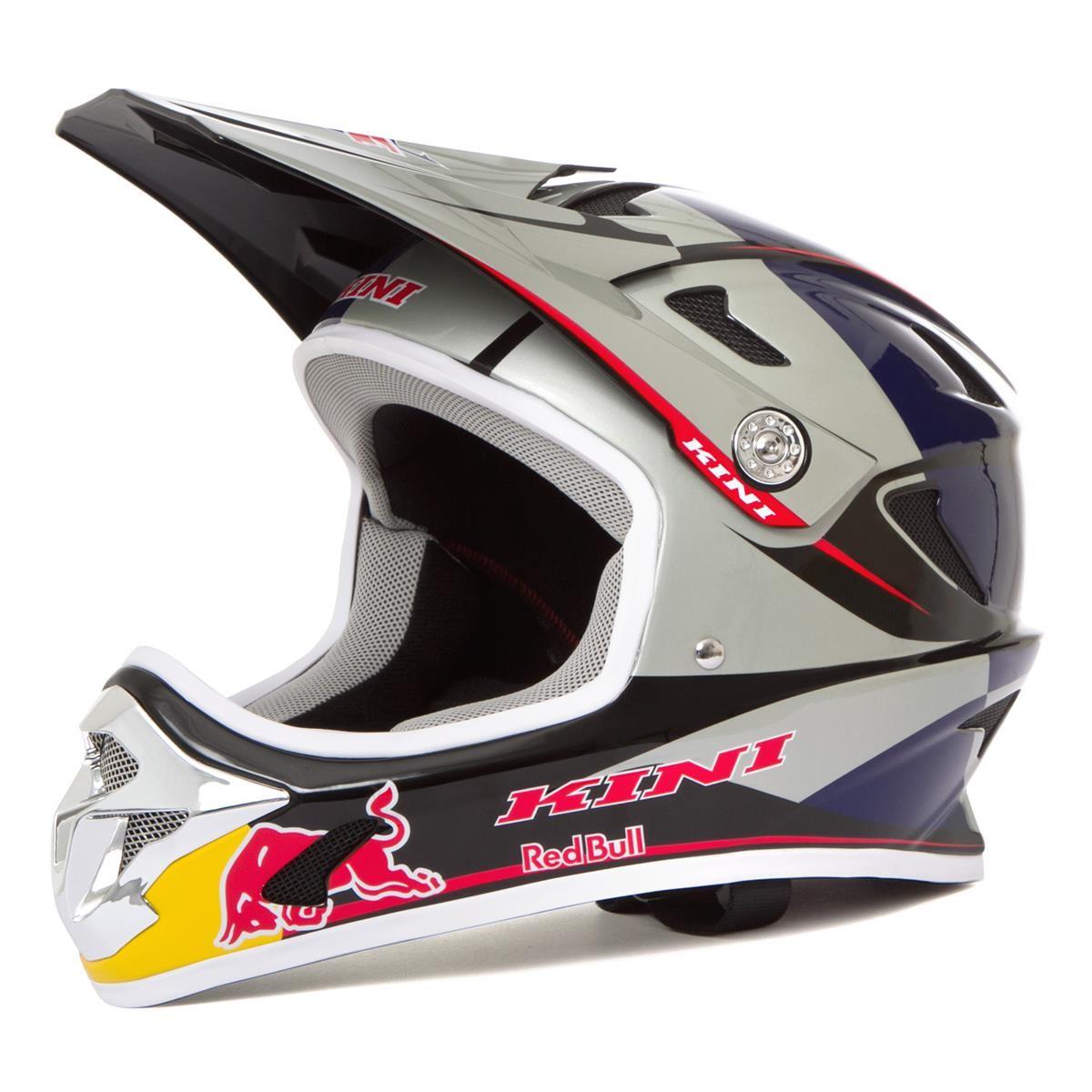 Kini Red Bull Downhill-MTB Helm MTB Silber/Blau 151086626 317