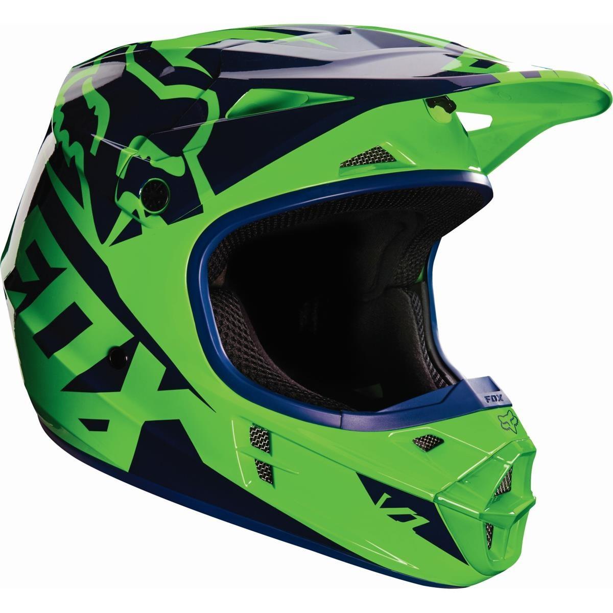 Fox helmet v1 race flo green 2016 maciag offroad