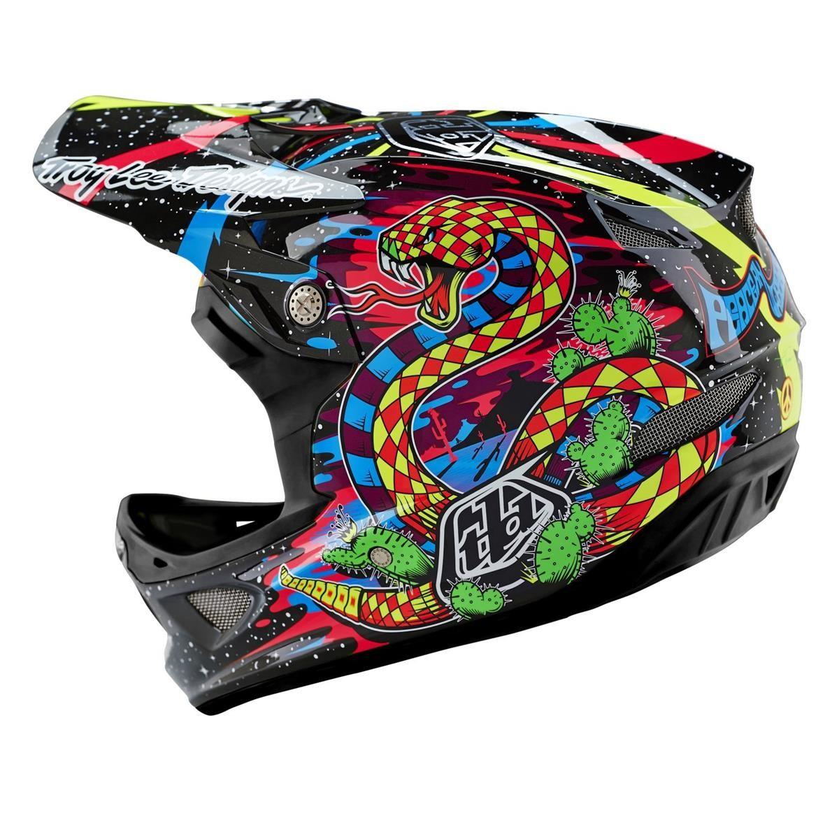 Troy lee designs downhill helmet d3 blacklight black 2016 maciag offroad