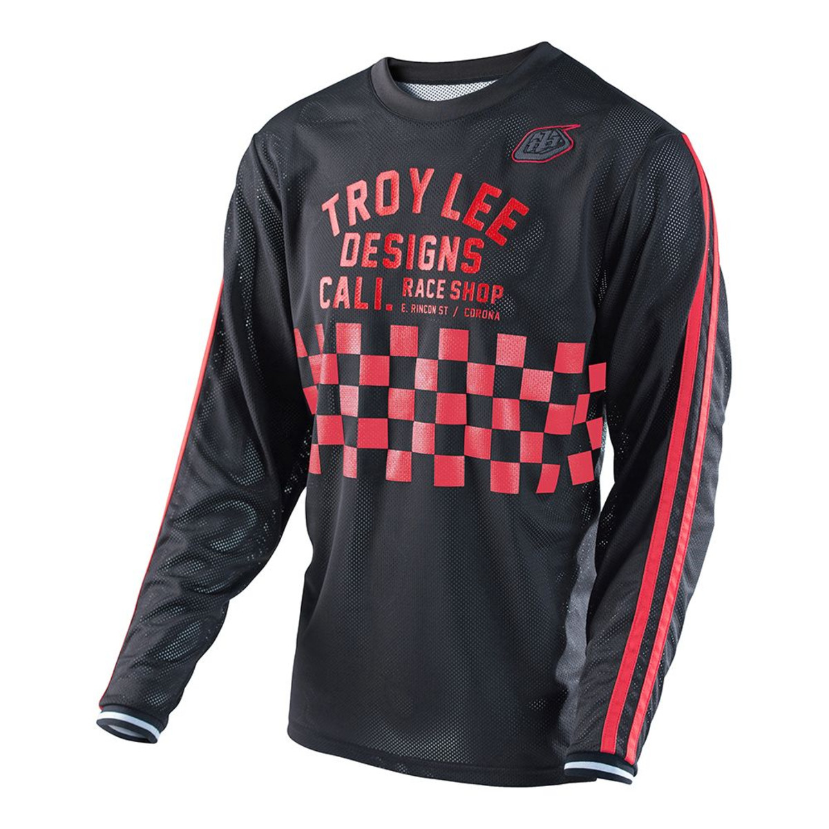 Troy Lee Designs Bike-Jersey Super Retro Retro Retro Schwarz/Rot 251e4a