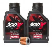 Motorenöl-Set 15W50 inkl. Ölfilter für GasGas, Honda, Kawasaki Neu