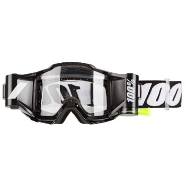 Fluorescent Yellow Goggles Clear Lens w// Roll Offs Accuri 2 Forecast Black