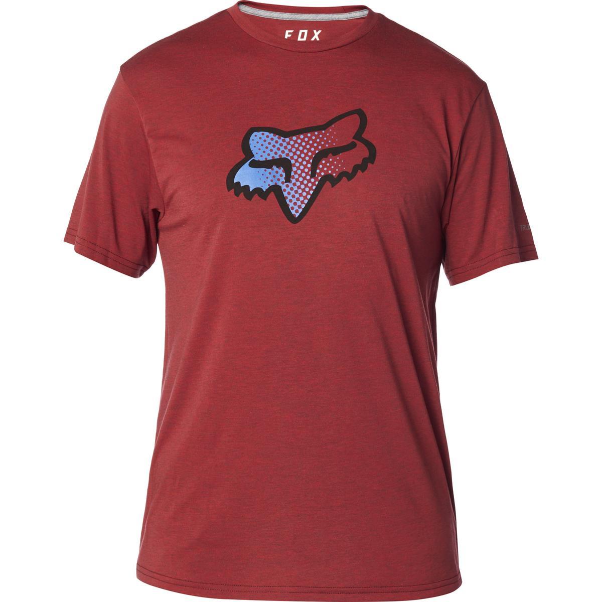 Fox Tech T-Shirt Murc Head Heather Red