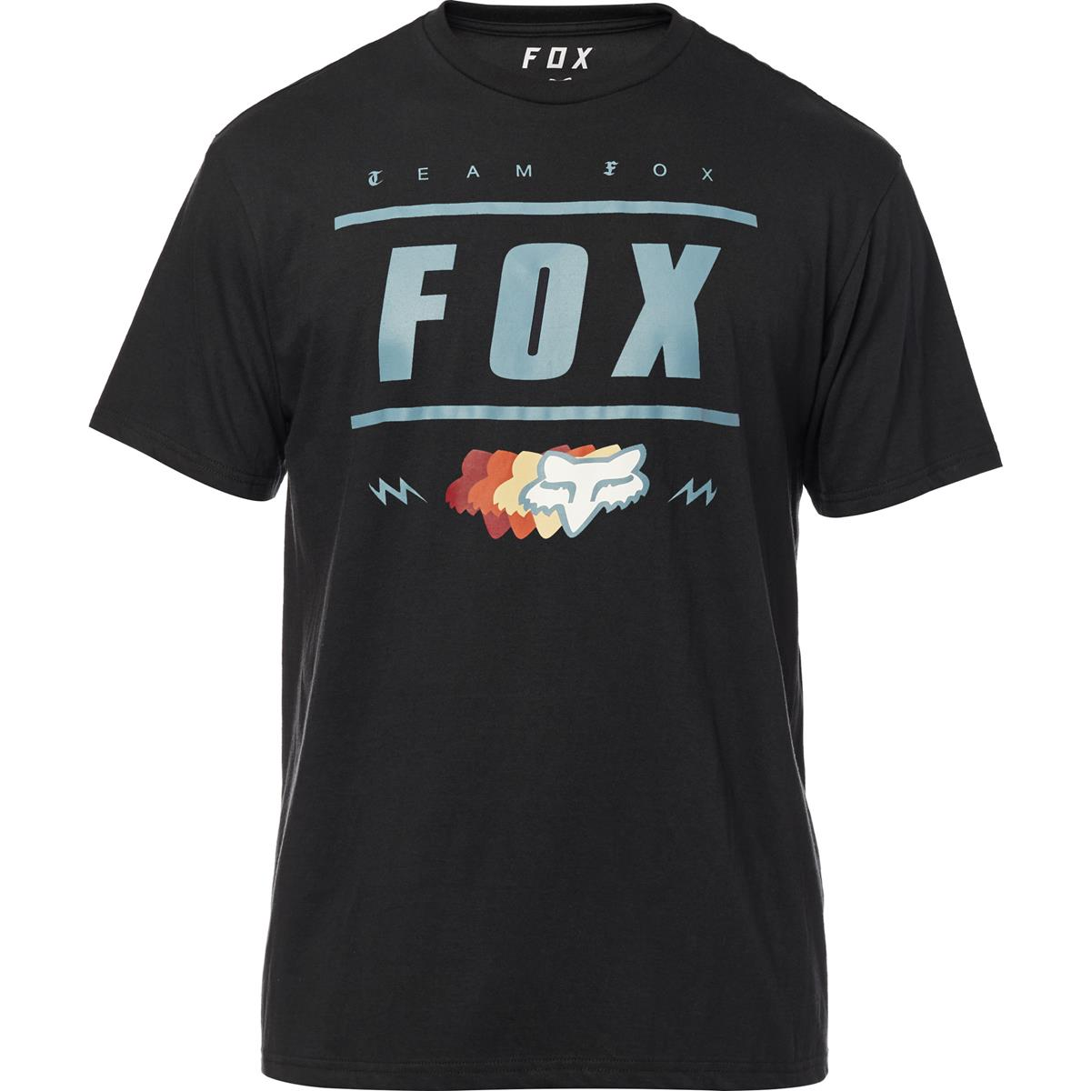 Fox Tech T-Shirt Team 74 Schwarz