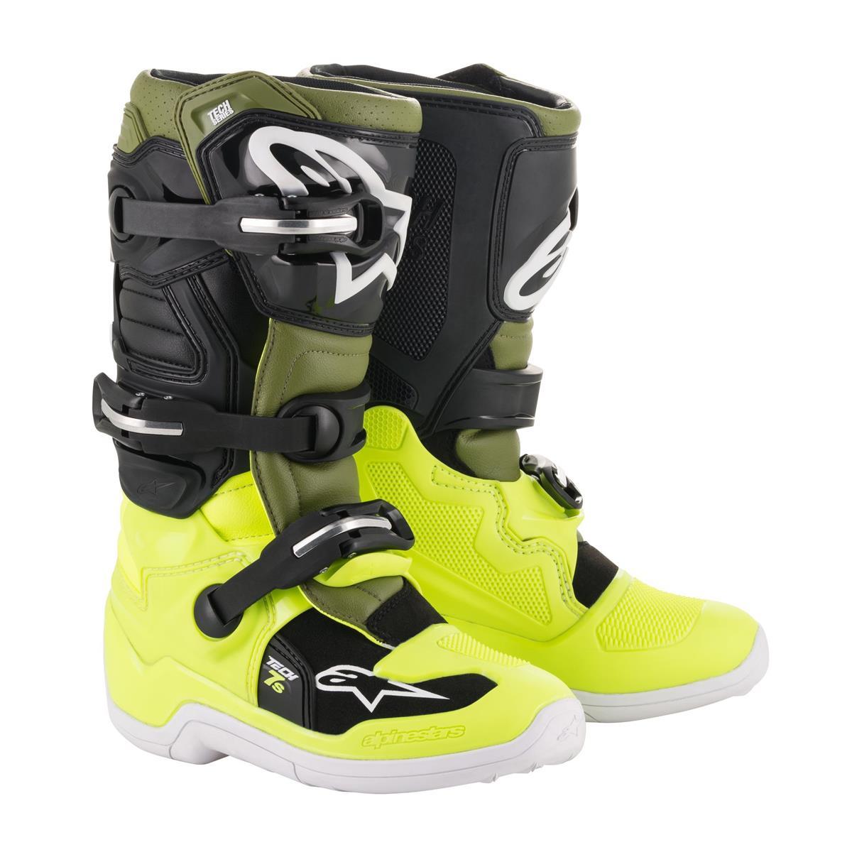 Alpinestars Kids Motocross Stiefel Tech 7S GelbMilitarySchwarz