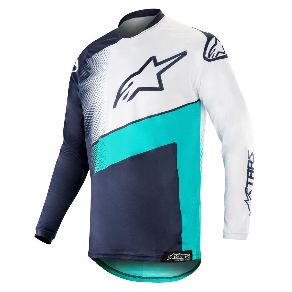 Alpinestars Jersey Racer Supermatic - Dark Navy/Teal/Weiß
