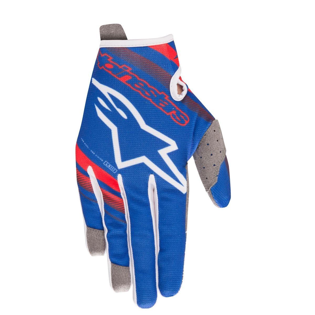 Alpinestars Handschuhe Radar Blau/Rot/Weiß