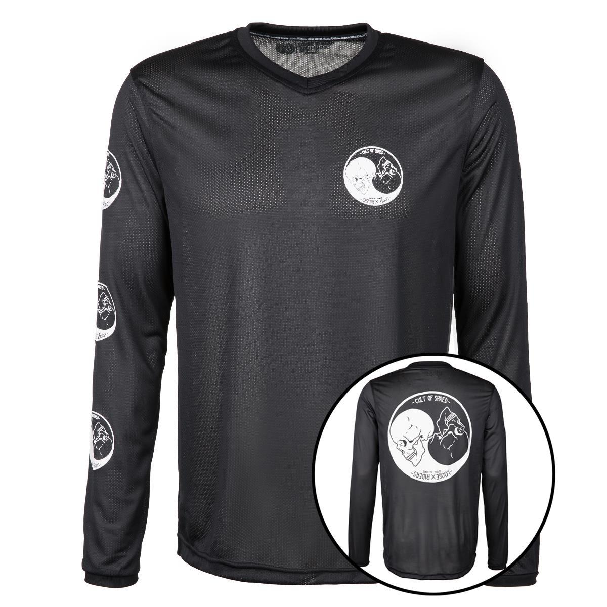 Loose Riders Bike-Jersey Black Series Yin & Yang - Schwarz/Weiß