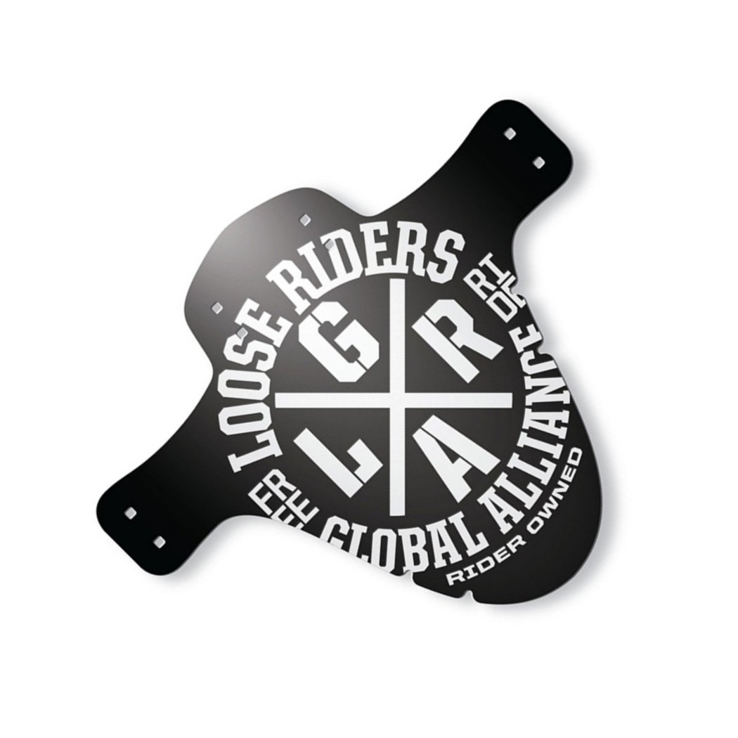 Loose Riders Schutzblech vorn  Alliance White - Schwarz/Weiß