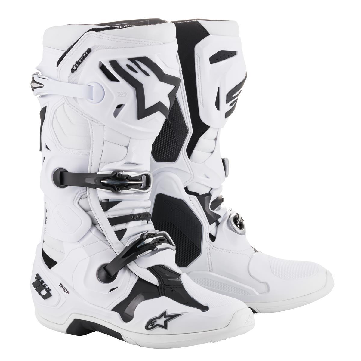 Alpinestars Motocross-Stiefel Tech 10 Weiß