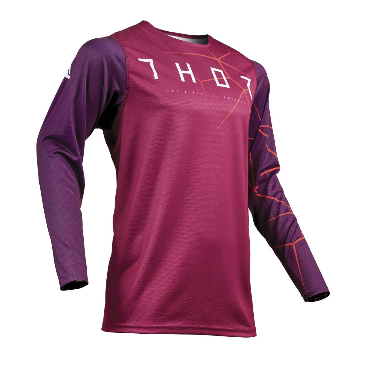Thor Jersey Prime Pro Infection - Maroon/Rot Orange
