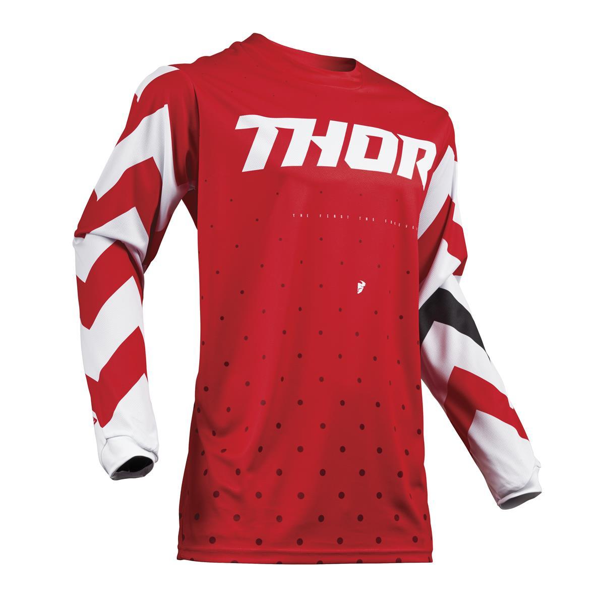 Thor Jersey Pulse Stunner - Rot/Weiß