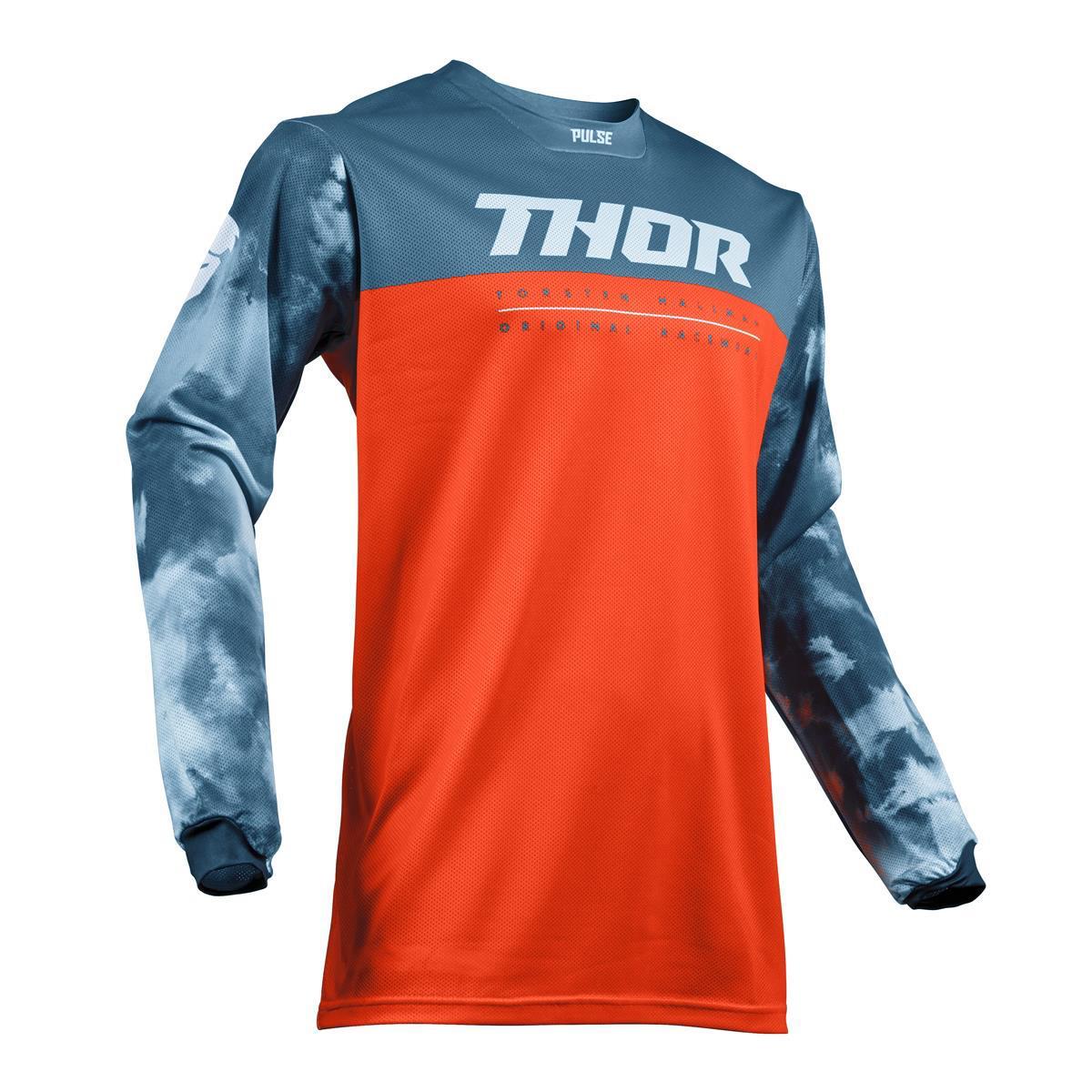 Thor Jersey Pulse Air Acid - Rot Orange/Slate
