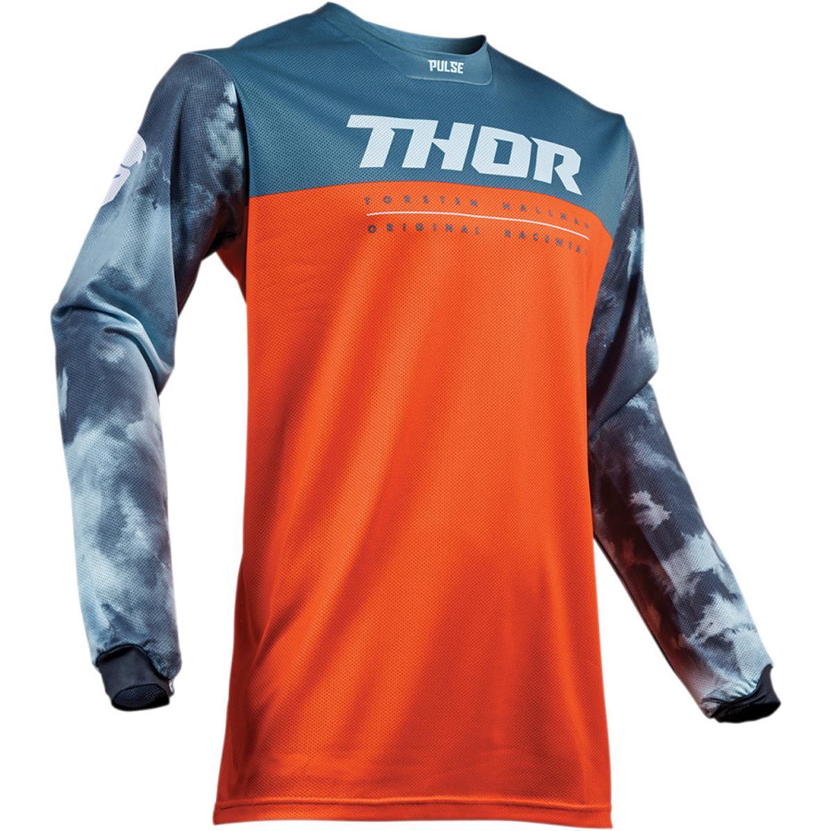 Thor Kids Jersey Pulse Air Acid - Rot Orange/Slate