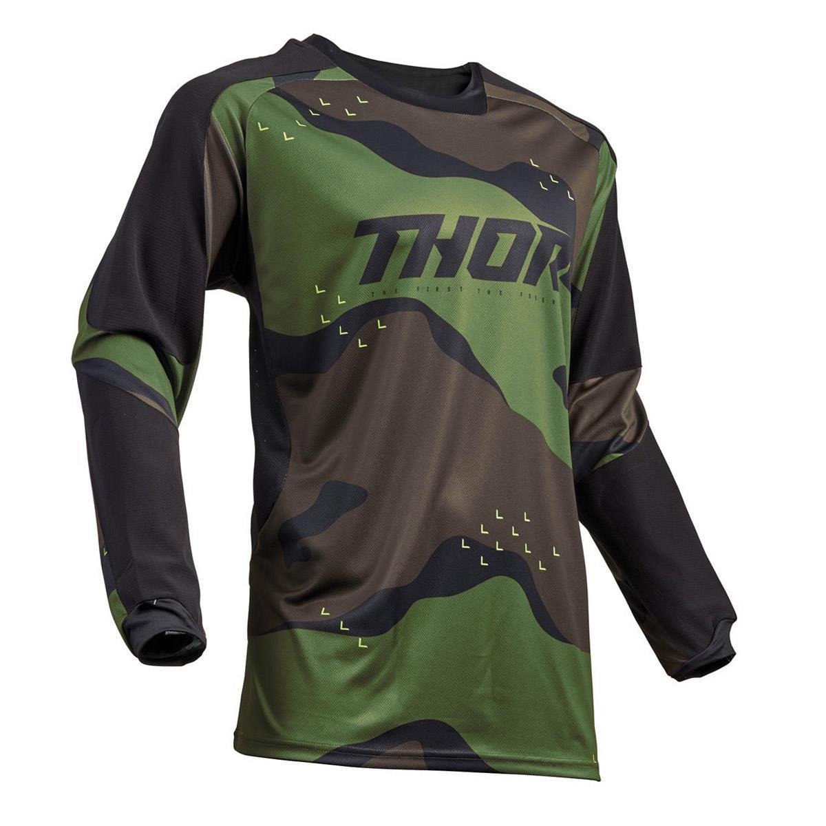 Thor Jersey Terrain Green Camo