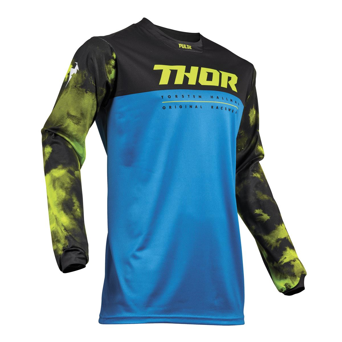 Thor Jersey Pulse Air Acid - Electric Blue/Schwarz
