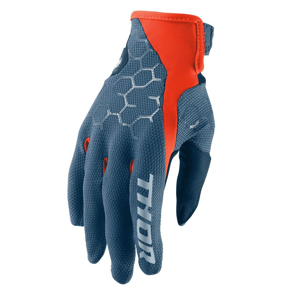 Thor Handschuhe Draft Slate/Rot Orange
