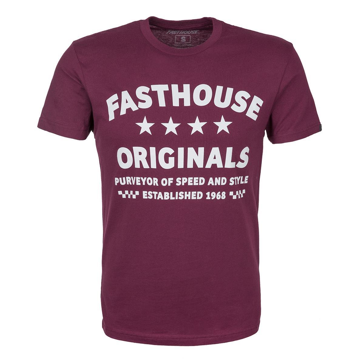 Fasthouse T-Shirt Wheels Maroon