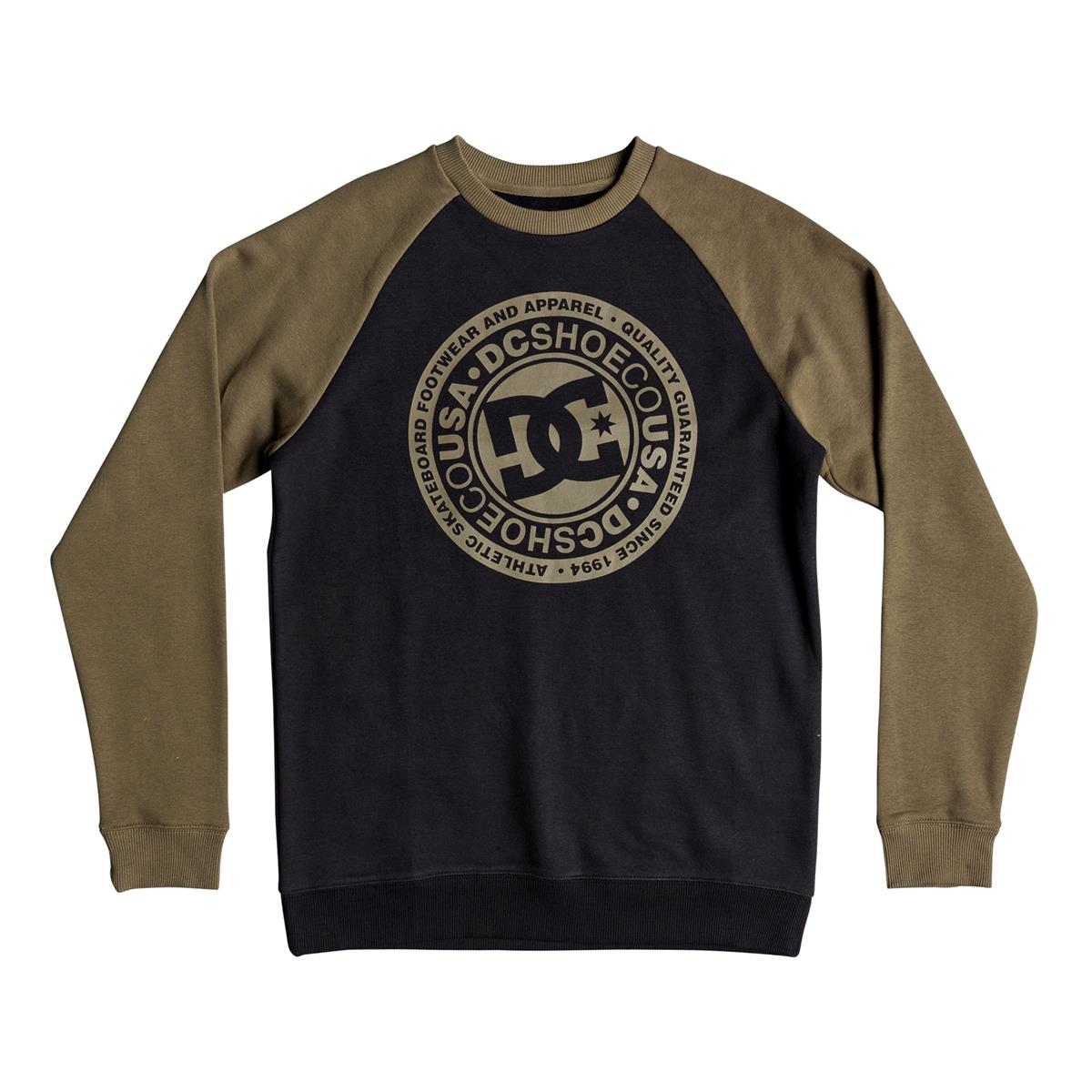 DC Pullover Circle Star Olive/Schwarz
