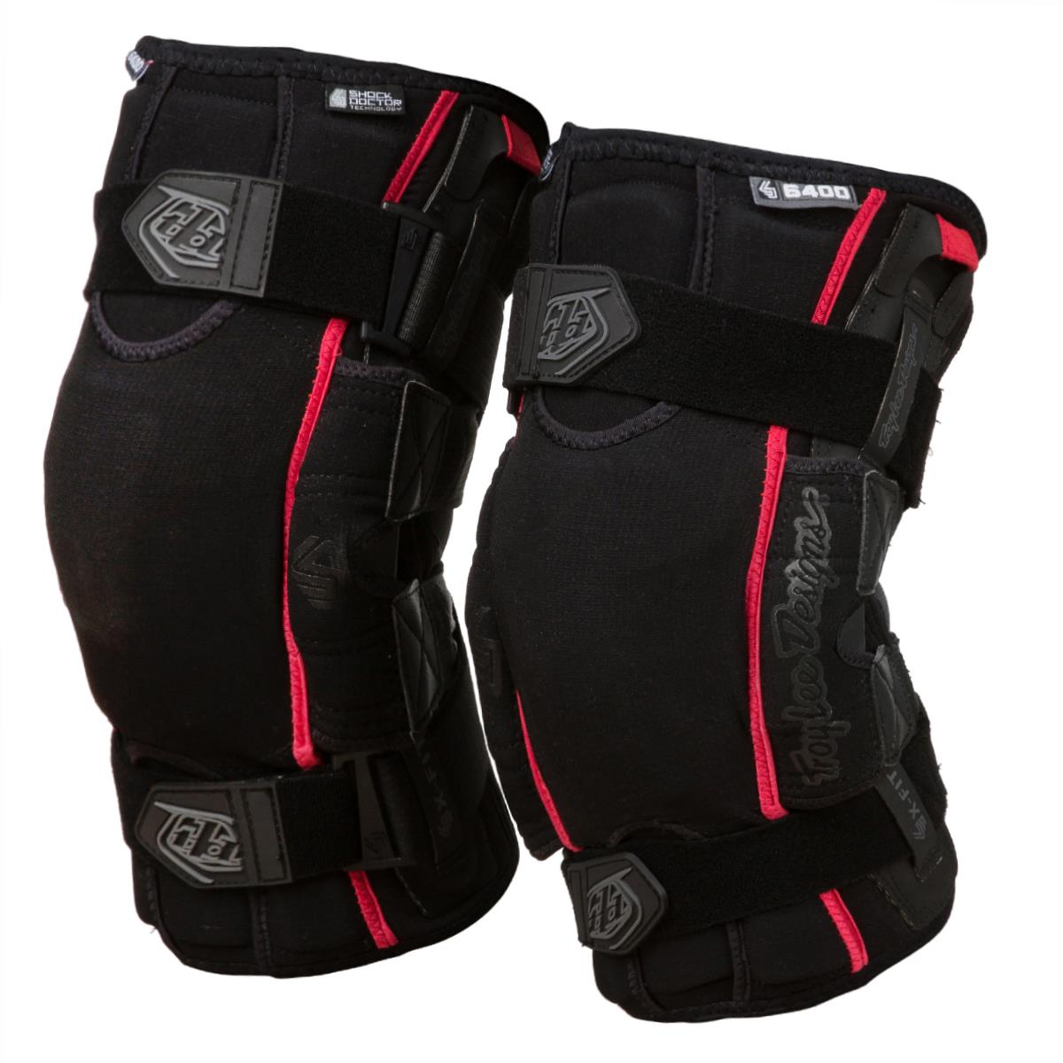 Troy Lee Designs 6400 Knee Brace Black Pair