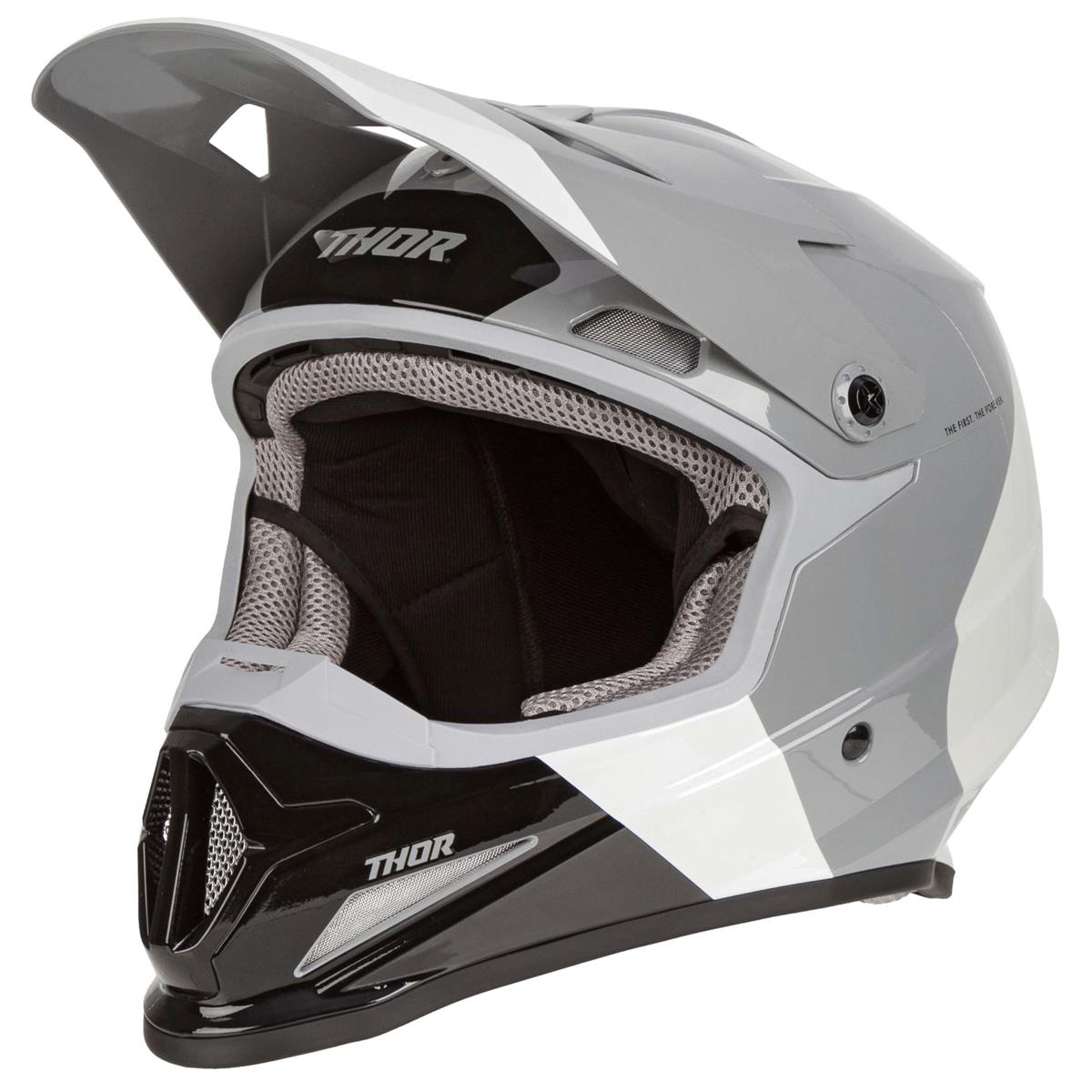 Thor Helm Sector Bomber Charcoal/Weiß