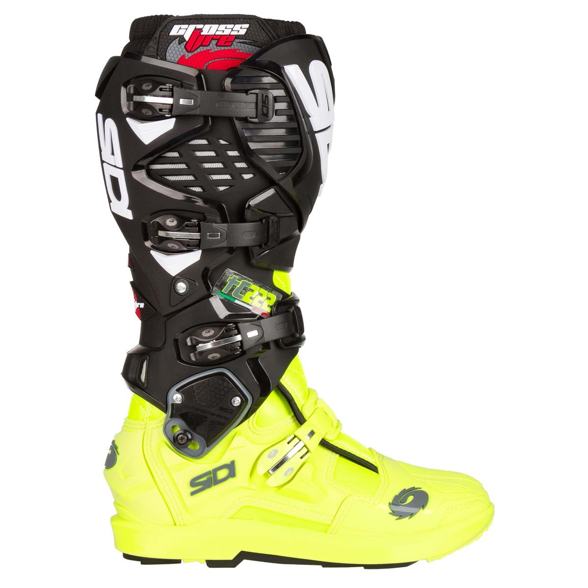 Details zu Sidi Motocross Stiefel Crossfire 3 SRS TC222 SchwarzFluo Gelb