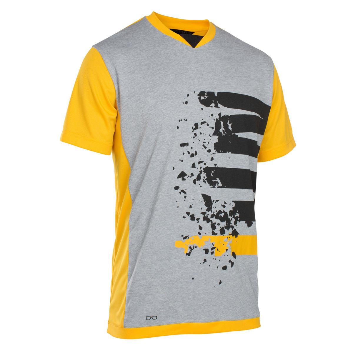 ION Freeride-Jersey Kurzarm Letter Scrub Amp Smiley Yellow