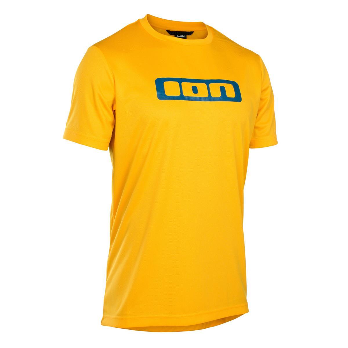ION Freeride-Jersey Kurzarm Scrub Smiley Yellow