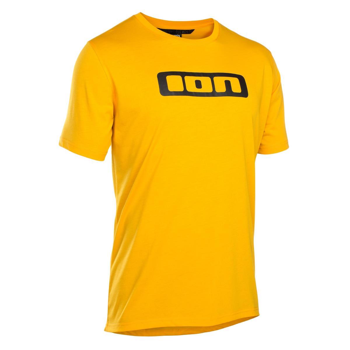 ION Freeride-Jersey Kurzarm Seek DR Smiley Yellow