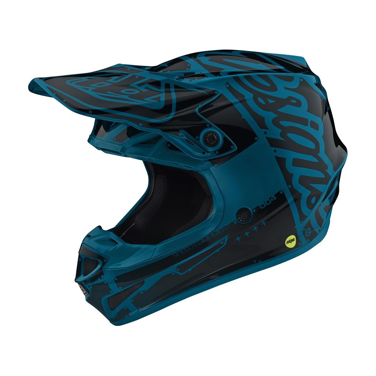Troy Lee Designs Helm SE4 Polyacrylite Factory - Ocean