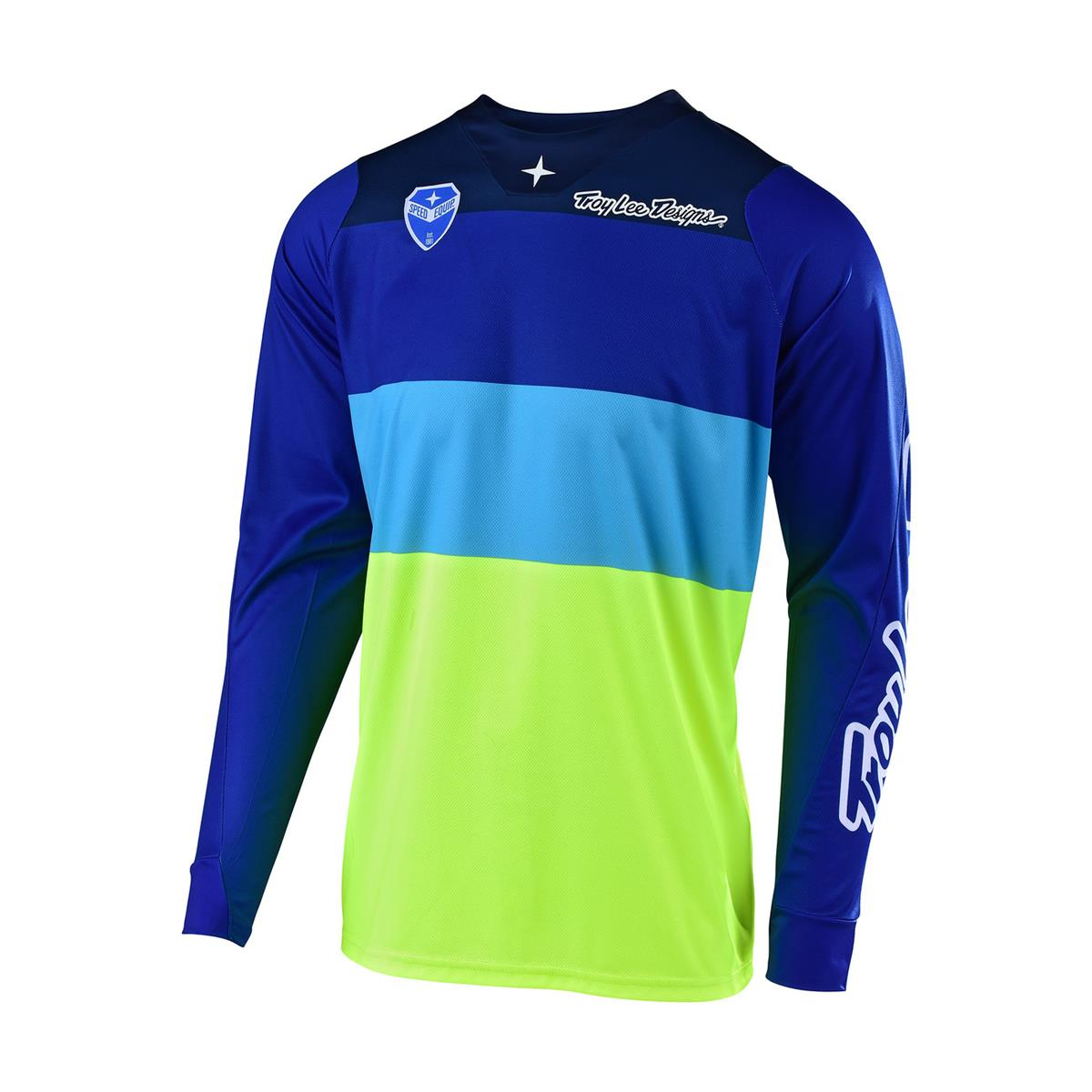 Troy Lee Designs Jersey SE Beta - Flo Gelb/Blau