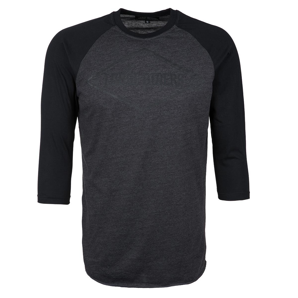 Loose Riders 3/4-Arm Shirt  Diamond - Grau/Schwarz