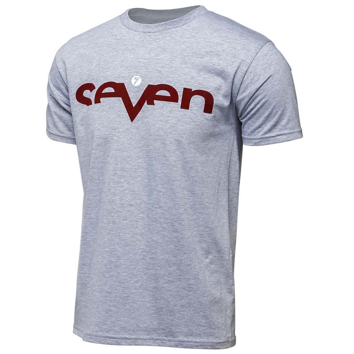 Seven MX T-Shirt Brand 2.0 Grey Burgundy
