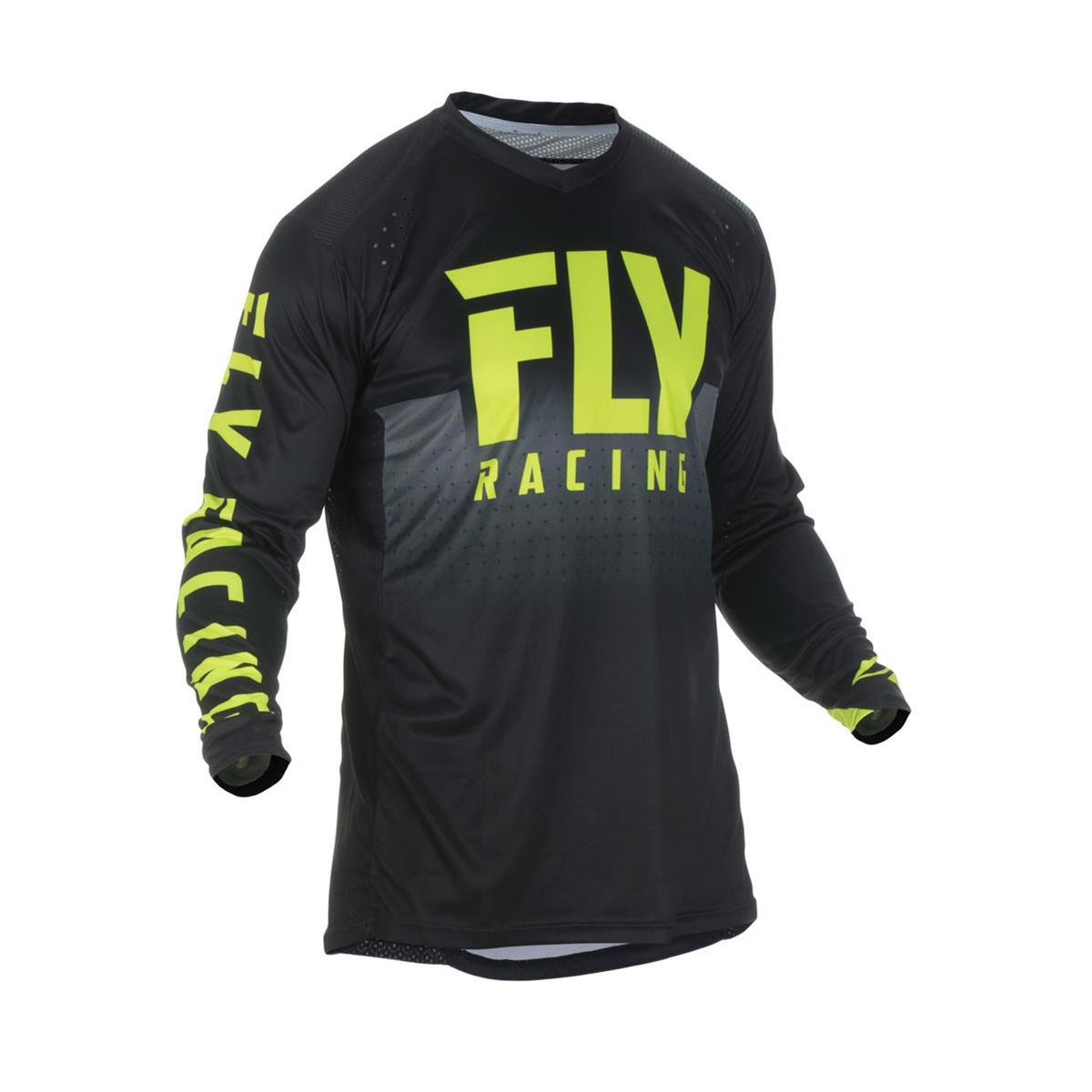 Fly Racing Jersey Lite Hydrogen Schwarz/Hi-Vis