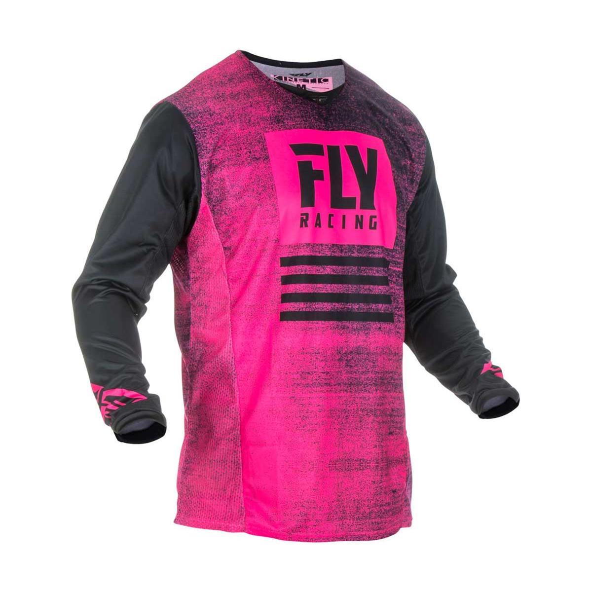 Fly Racing Jersey Kinetic Noiz Neonpink/Schwarz