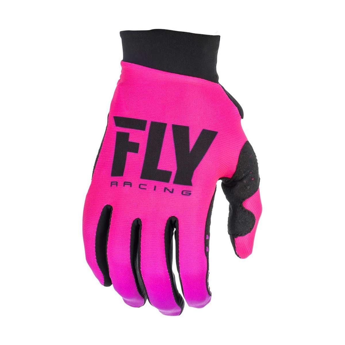 Fly Racing Girls Handschuhe Lite Neonpink/Schwarz