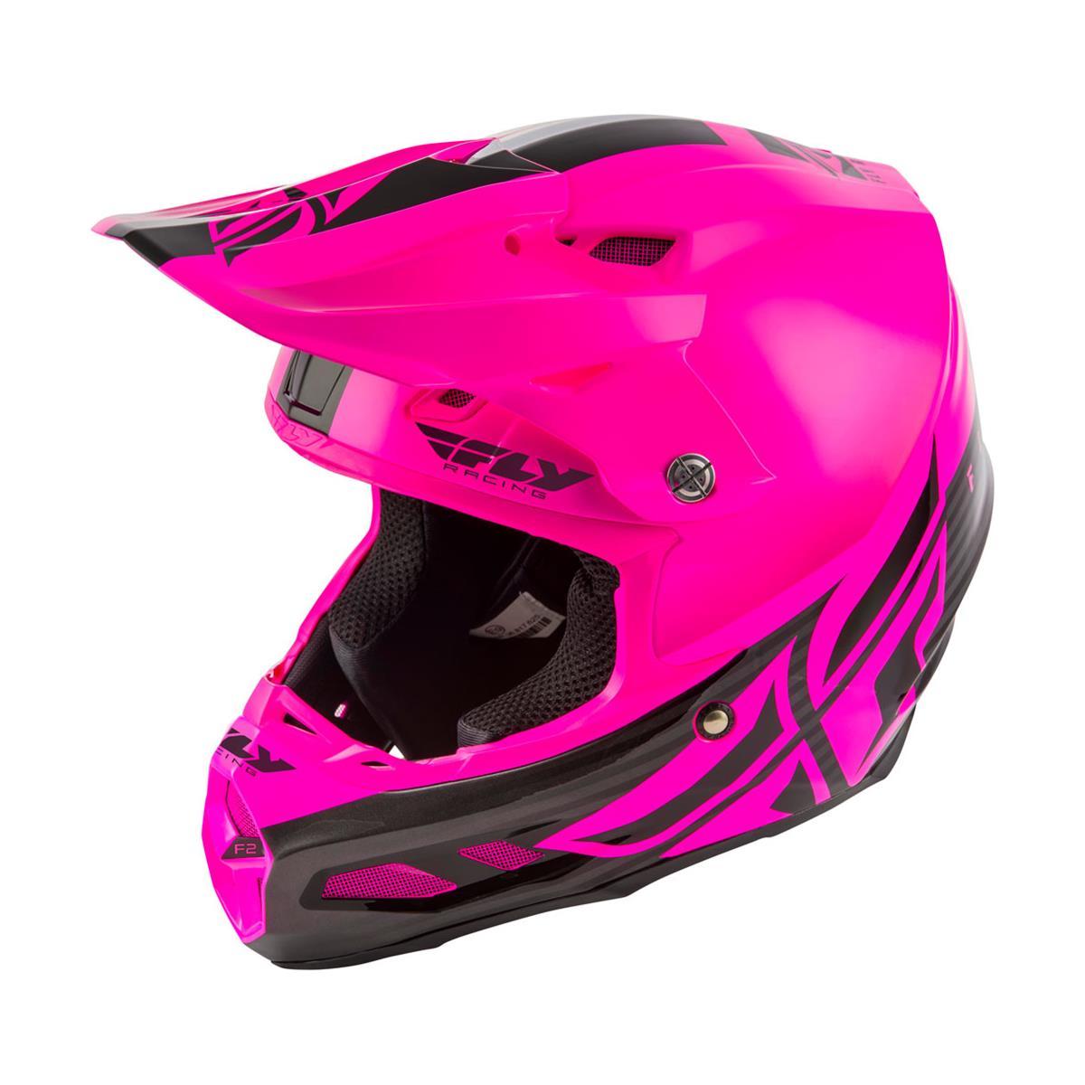 Fly Racing Helmet F2 Carbon MIPS Black/Pink