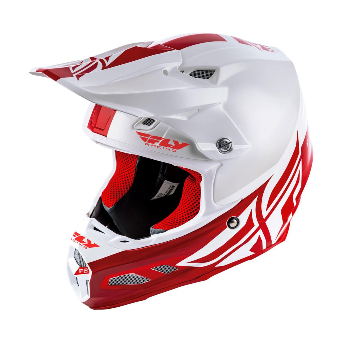 Fly Racing Helm F2 Carbon MIPS Weiß/Rot