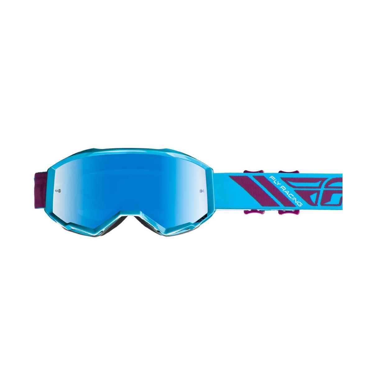 Fly Racing Crossbrille Zone Teal - Blau Smoke