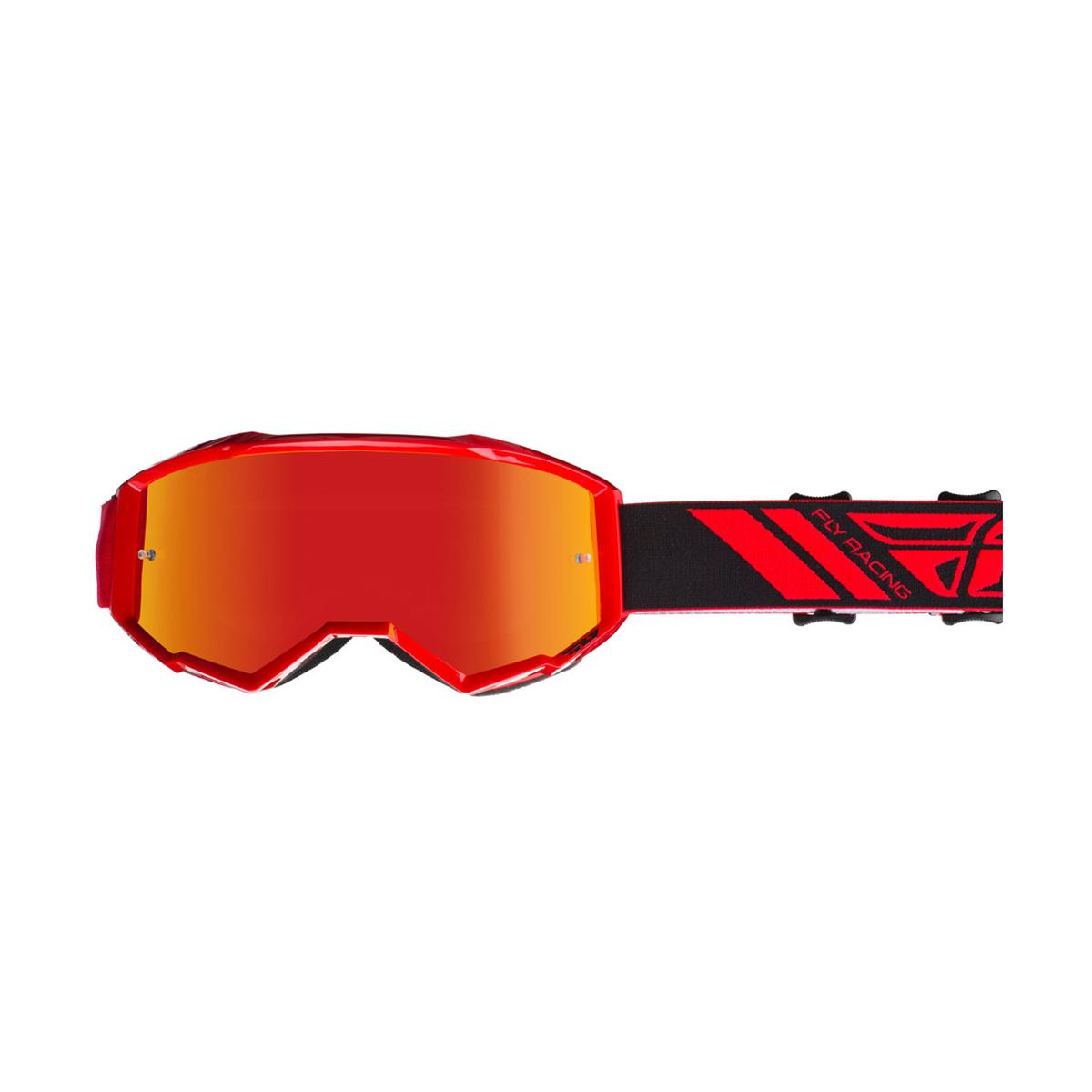 Fly Racing Crossbrille Zone Rot - Rot Smoke