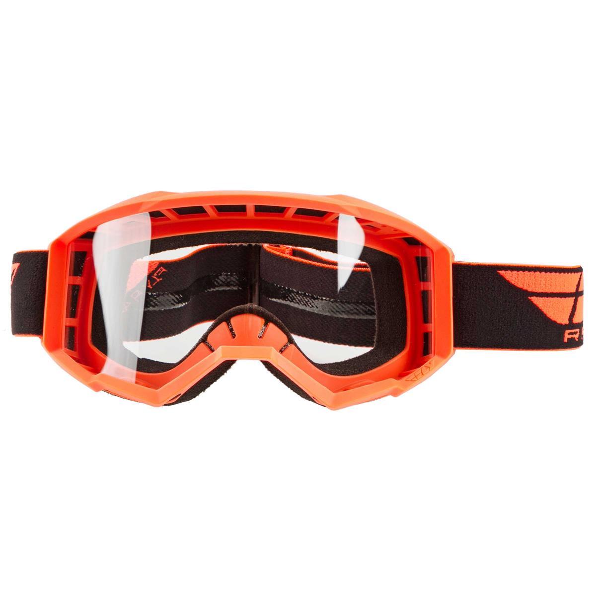 Fly Racing Crossbrille Focus Hi-Vis Orange - Klar
