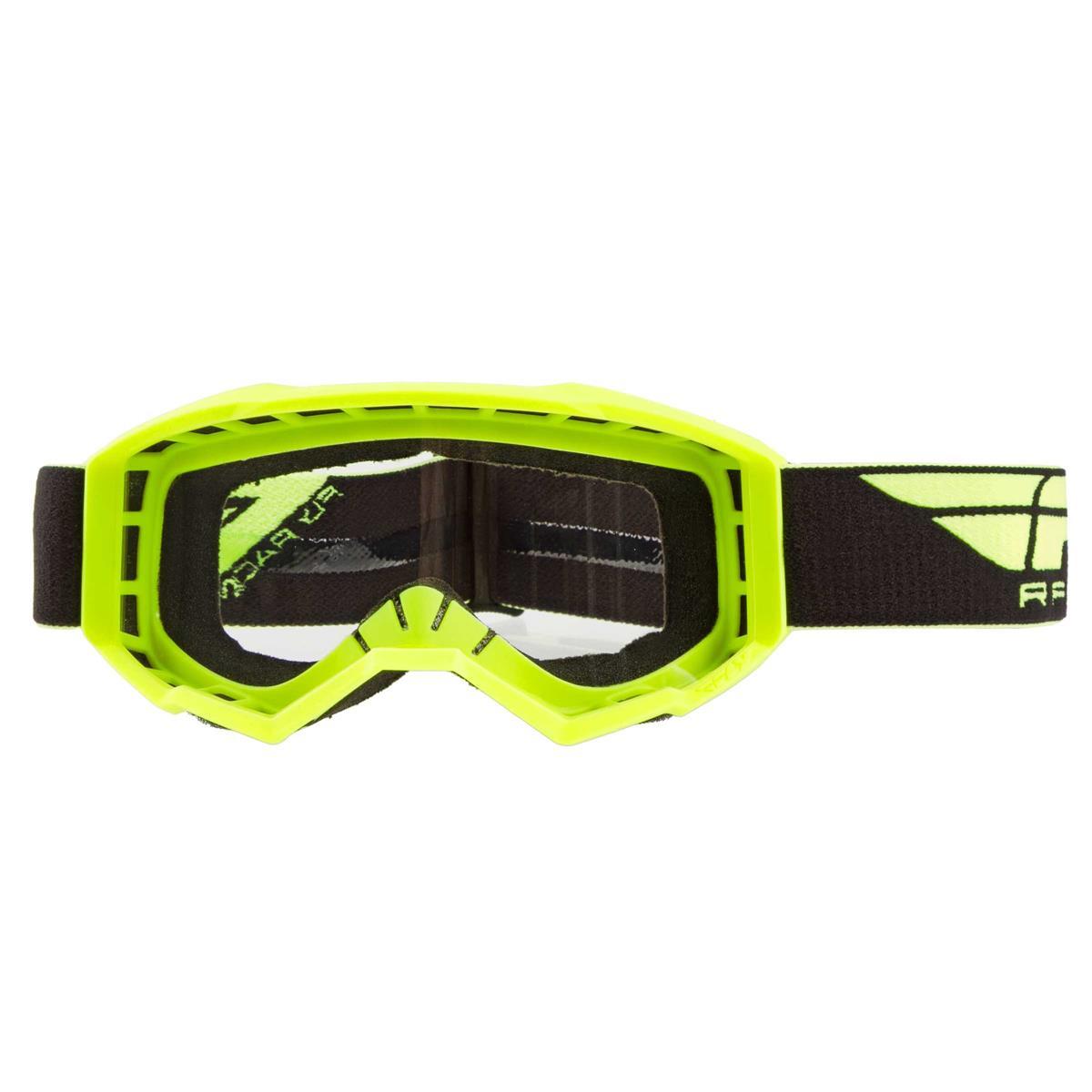Fly Racing Kids Crossbrille Focus Hi-Vis Gelb - Klar