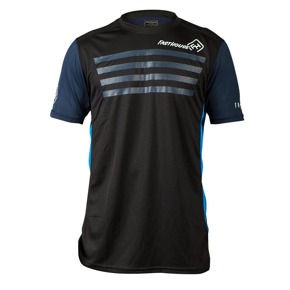 Fasthouse Bike-Jersey Kurzarm Fastline Stripes Blau