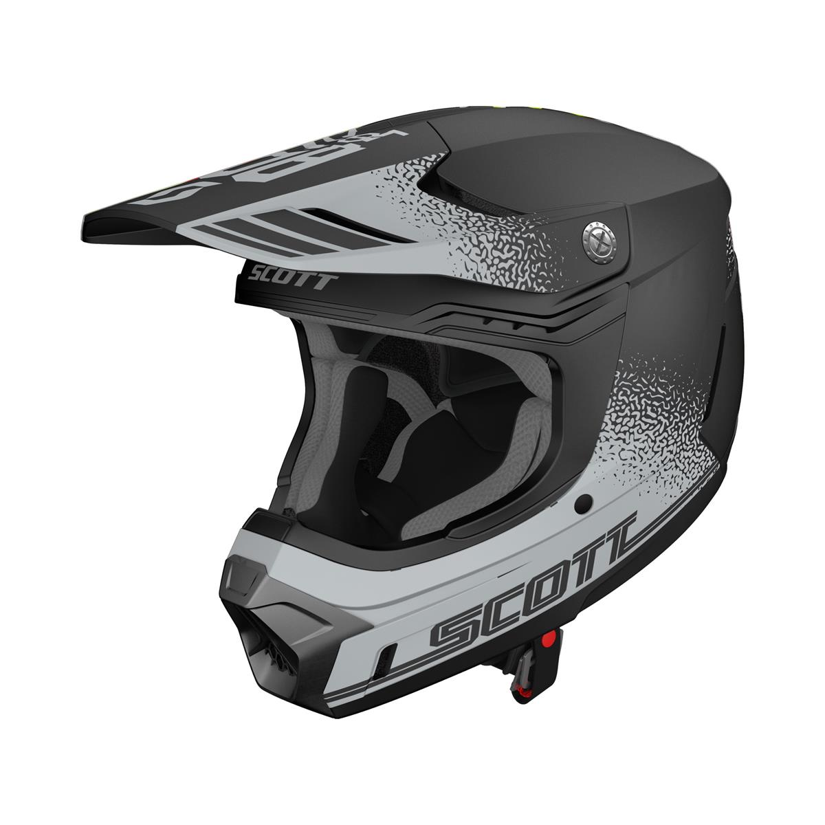 Scott Helm 350 Evo Plus Retro MIPS Grau/Schwarz