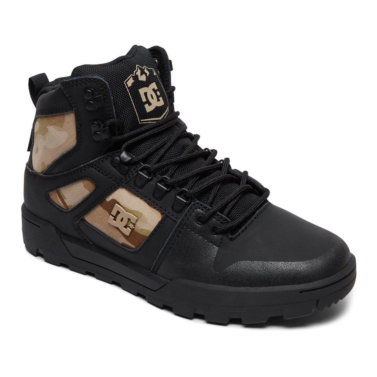 DC Schuhe Pure High Top WR Boot Schwarz/Camo