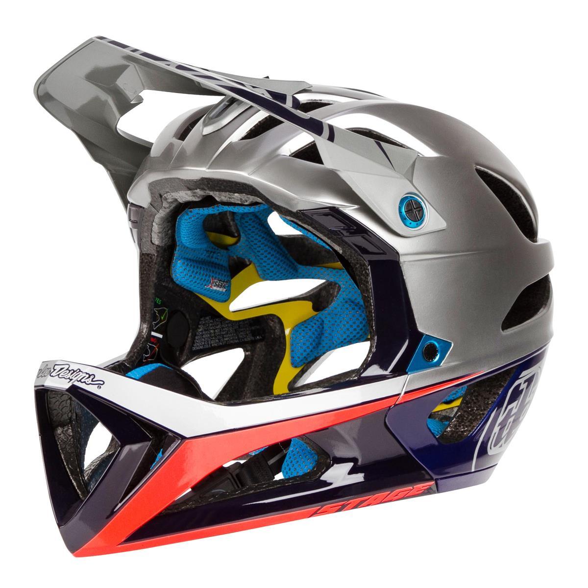 Troy Lee Designs Enduro-MTB Helm Stage MIPS Race Silver/Navy