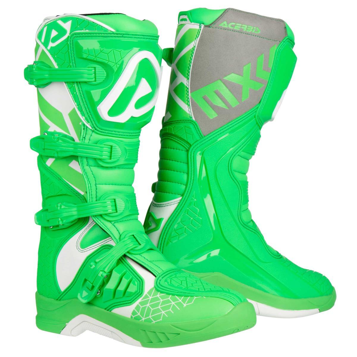 Acerbis Motocross-Stiefel X-Team Grün/Weiß