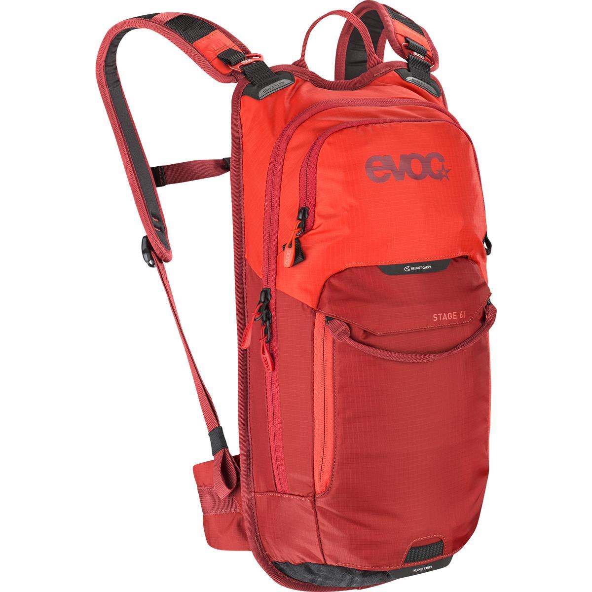 Evoc Rucksack mit Trinksystem Stage Orange/Chili Red, 6 Liter